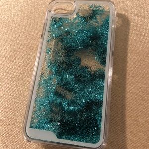 Accessories - NWT LMNT Turquoise/aqua glitter case for iPhone 7
